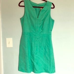 Banana republic sea foam green linen dress